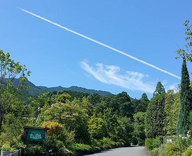 田主丸にあるあいはなカフェの周辺の景色