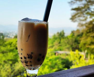 田主丸にあるあいはなカフェのタピオカドリンク